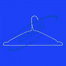 WHITE WIRE HANGER STD